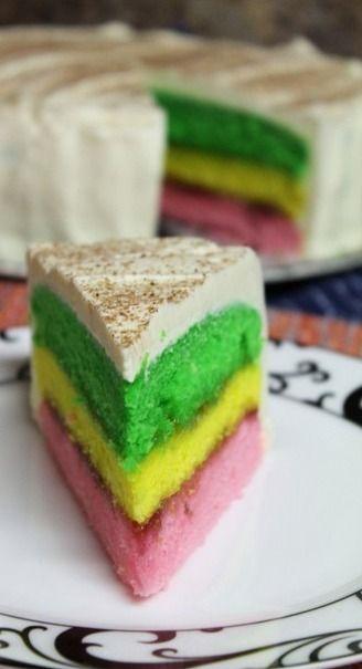 Easy Italian Rainbow Cookie Cake | The Spiffy Cookie