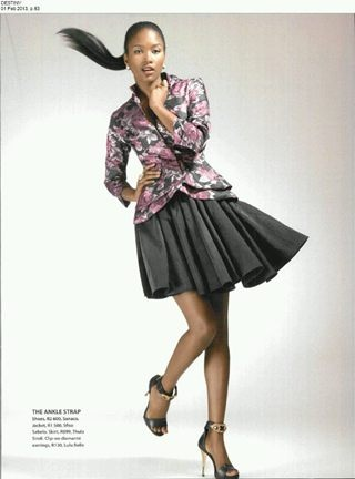 Tailored floral jacket by me in destiny magazine feb 2013 issue