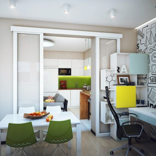 minimalist 1 bedroom apartment designed for a young man wall decals pinterest bedroom apartment dining chairs and minimalist - Single Wall Apartment 2015