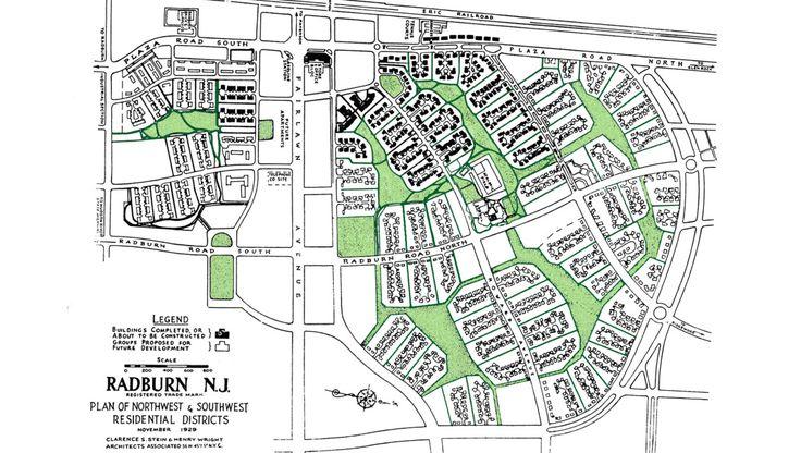 Fradkin & McAlpin — Radburn New Jersey Master Plan. City and town architecture, planning, and interior design.