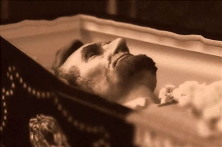 The only preserved photograph of Lincoln in death. Taken  24 April 1865, by Jeremiah Gurney, Jr., City Hall, Manhattan, NY.