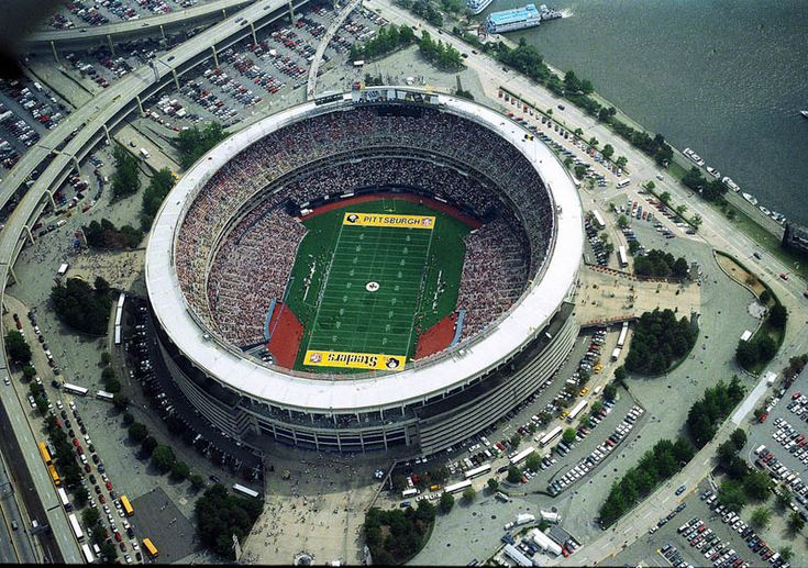 Three Rivers Stadium: Pittsburgh, PA Former home of the Pittsburgh Pirates and Pittsburgh Steelers