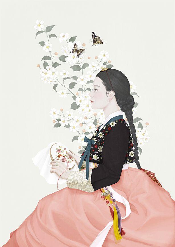 Mi-Kyung-Choi es una ilustradora Coreana y que reside en Seoul. Trabaja bajo el seudónimo de Ensee. Sus dibujos son limpios y ordenados, sugerentes…  En su webse puede ver todo sutrabaj…