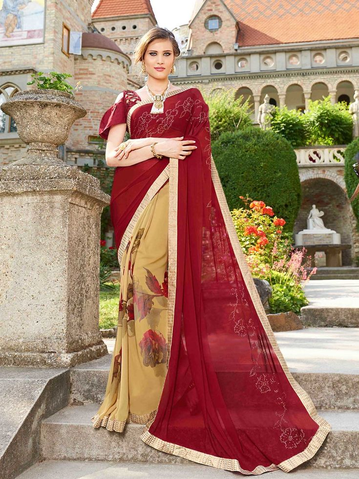 ***Georgette Printed Party Half & Half Saree***  Buy Slik #Printedsarees #collection only at #Mayloz  Link :- http://bit.ly/2Eq12ht  100% #original Products  #WorldWideExpressShipping  #EasyReturnPolicy  #FastestWebsite  #CustomStitching  #mayloz #Designersaree #Georgettesaree #buysaree #onlinebuysaree
