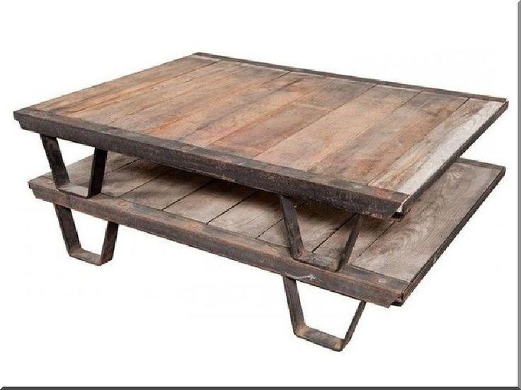 egyedi bútor, loft kávézóasztal