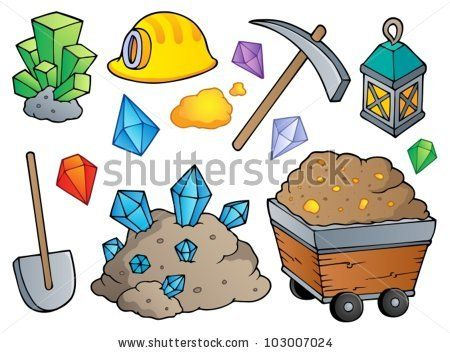 Cartoon mining equipment | Yukon gold rush | Pinterest ...