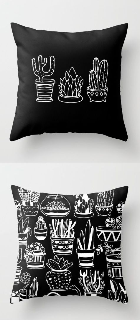 plants in pots throw pillow