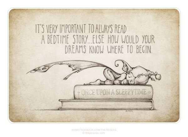 Books are where dreams are born.  Reading a book before bed to your children is one way to build the best family memories ever.