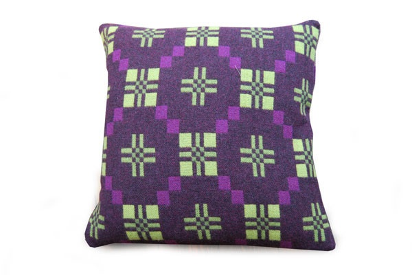 St David's Cross cushion in cassis: Living Rooms, Cross Cushion, David S Cross