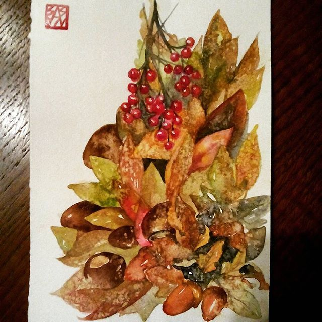 #watercolor #aquarelle #november  #art #painting #drawing #winsornewton