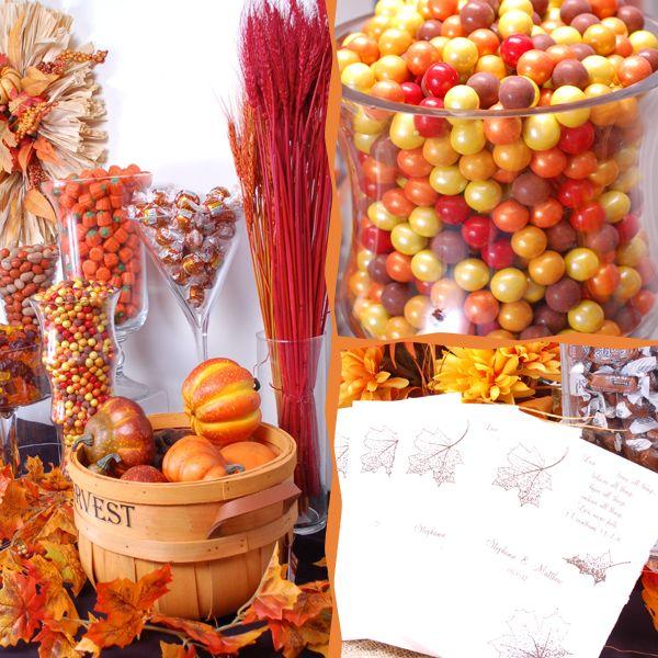 Fall Wedding Dessert Buffet: Fall-candy-buffet