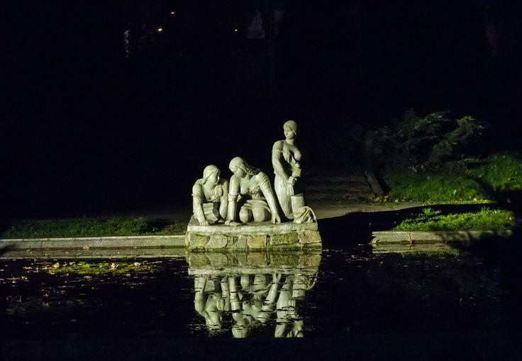 Praczki nocą :) #Białystok fot. Dawid Gromadzki