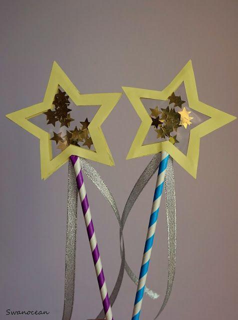 Swanocean: Tutorial: Make New Year wish wands-Φτιάξτε Πρωτοχρονιάτικα ραβδιά ευχών