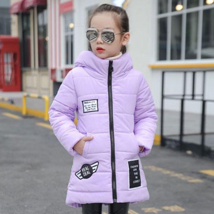 Outerwear Cotton Padded Jacket Children Winter Clothing Warm Children Girls Coat #Unbranded #Fashion