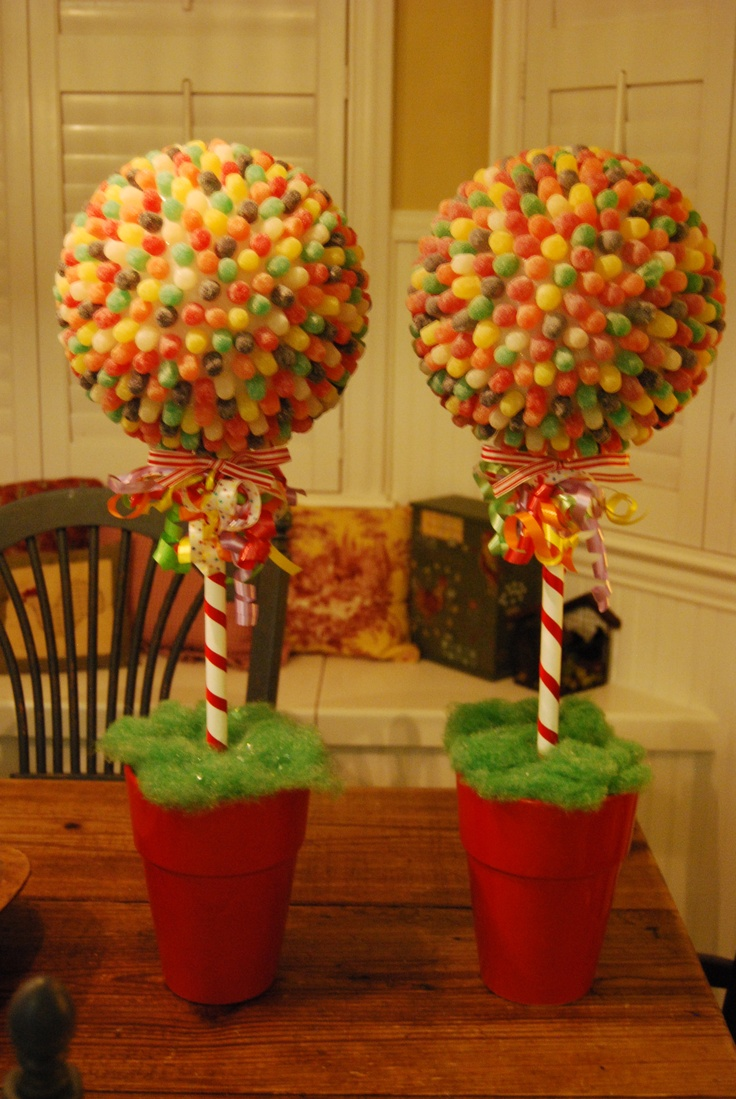 Gumball Topiaries I made for a candy themed party