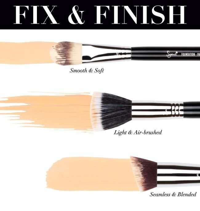 A brush for every foundation finish. | Beauty Bets