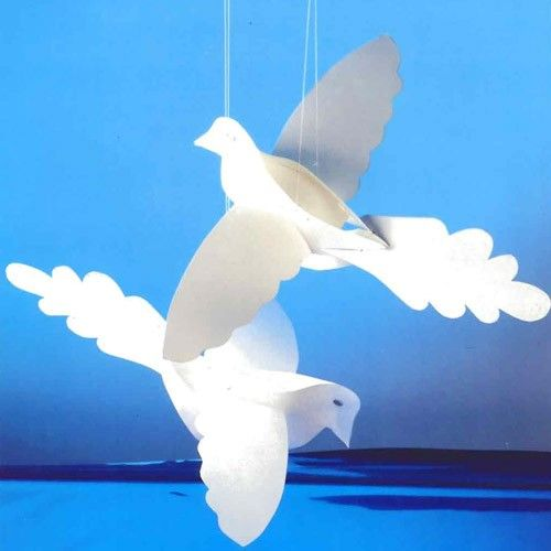 Paper Doves craft for kids