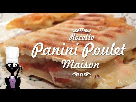 Recette facile, délicieuse et rapide de Panini au poulet à réaliser dans un appareil à Panini ou gaufrier disposant d'une plaque spéciale. Ingrédients...