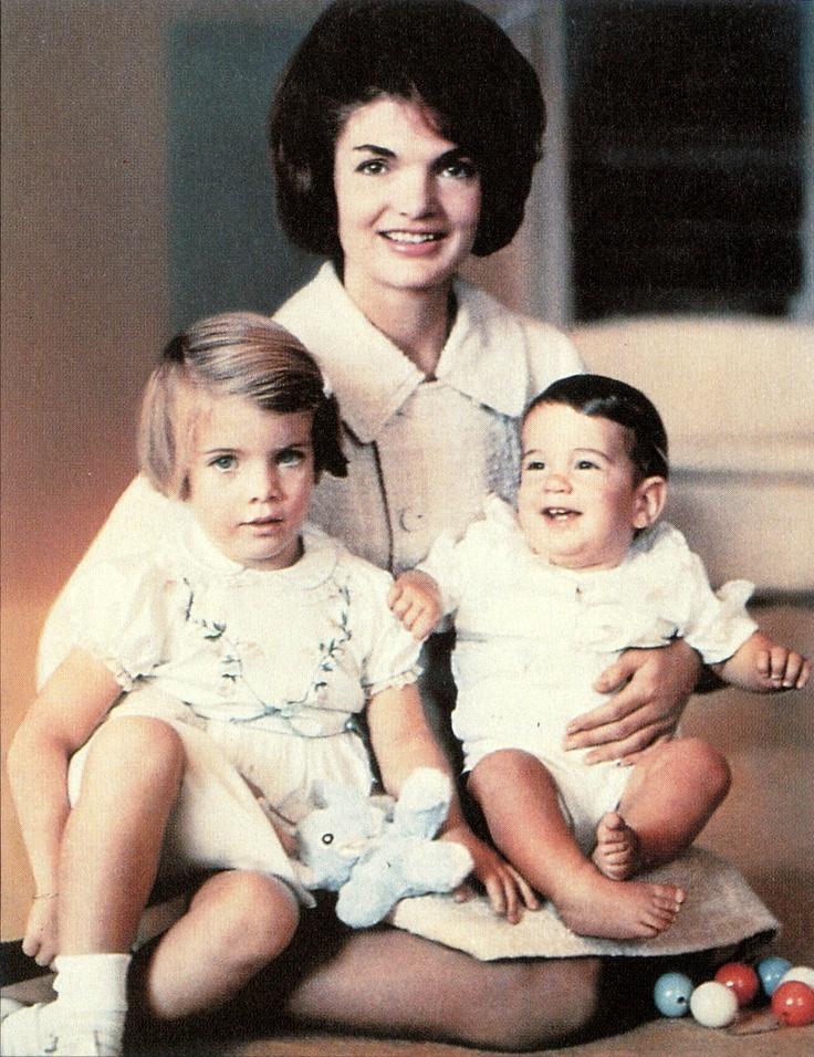 Jackie Kennedy with Carolina & JFK, Jr.