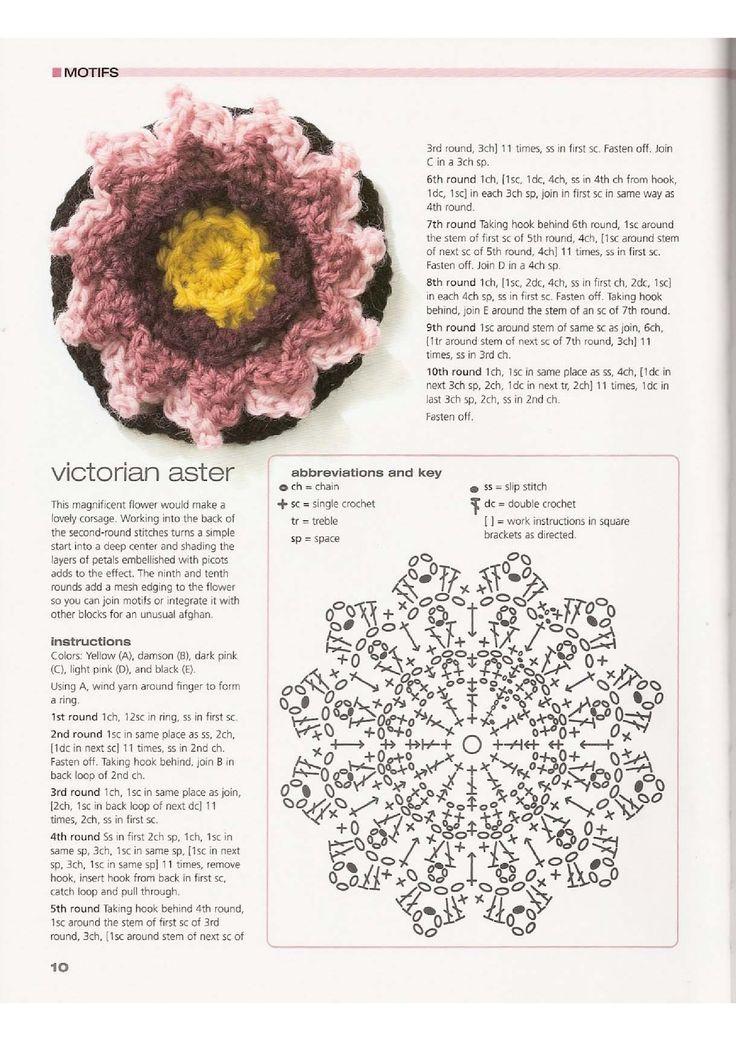 Mejores 2235 imágenes de flores a crochet en Pinterest   Flores de ...