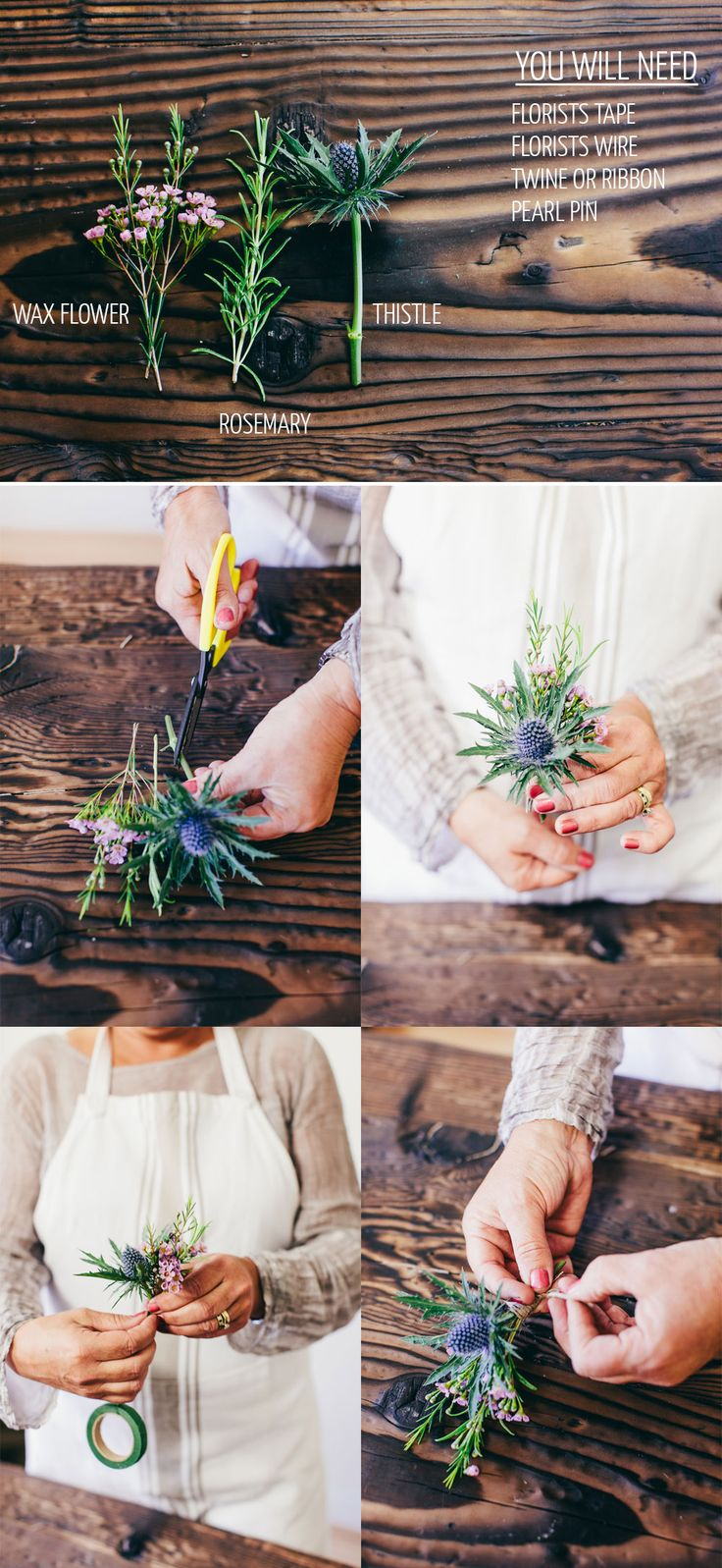 DIY Mixed Seasonal Rustic Buttonhole. | http://www.rockmywedding.co.uk/diy-mixed-seasonal-rustic-buttonhole/