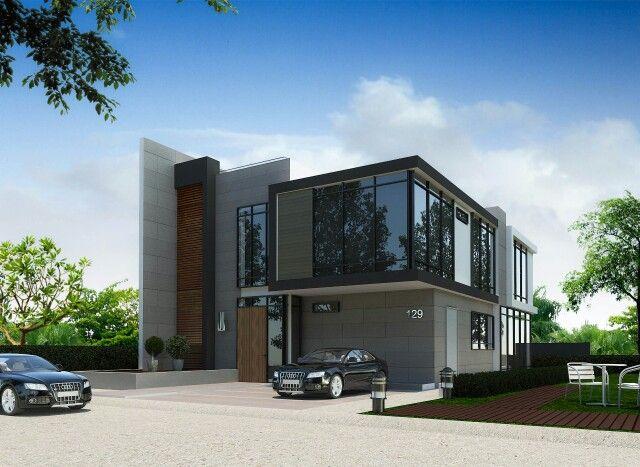 Modern style 4 ห้องนอน 4ห้องน้ำ ครัวฝรั่ง ห้องรับแขก  พื้นที่ใช้สอย 250 ตารางเมตร  ราคา 2,xxx,xxx  line:id-house 087-408-0860