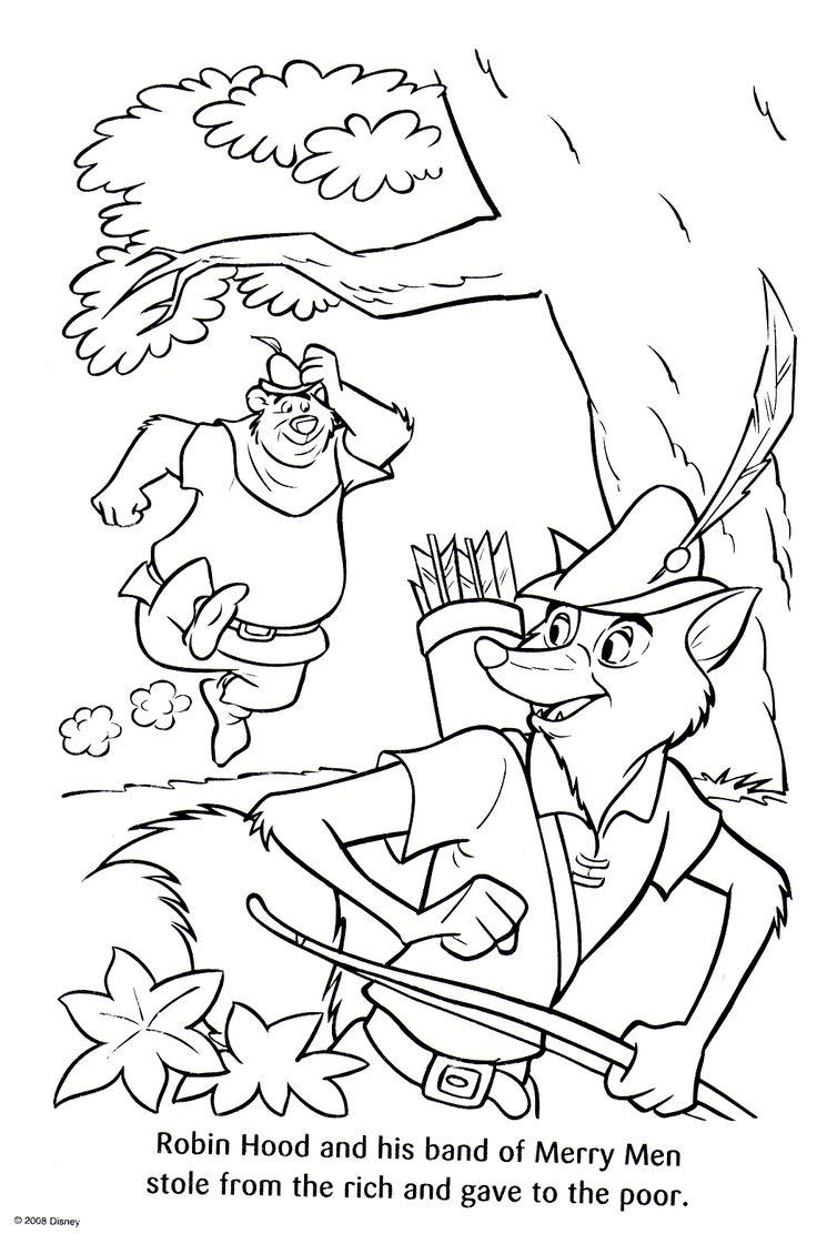 Картинки раскраска робин гуд