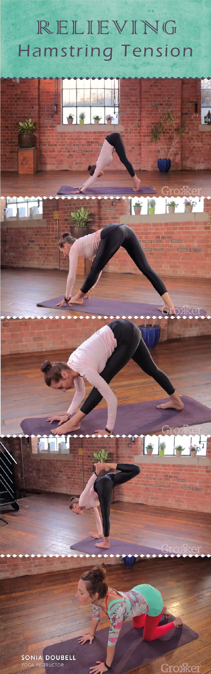 Allow the tension within your hamstrings melt away, and watch as your lower, middle and upper body follows suit. Join Sonia Doubell in this Grokker Premium Video for her series Yoga for Tension Relief, and melt away the stresses and strains of life!