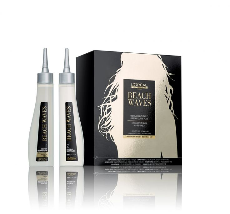 L'Oréal Professionnel Beach Waves In Salon for sensitized hair Pack (Waving Lotion 100ml + Neutralizer 100ml).