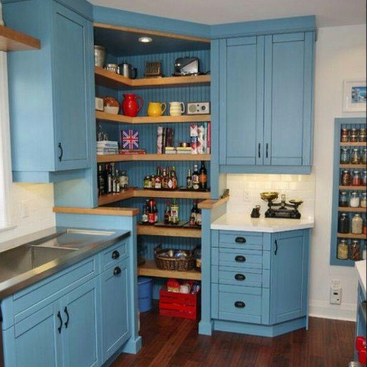 Awesome pantry and sink. Not my color choice.