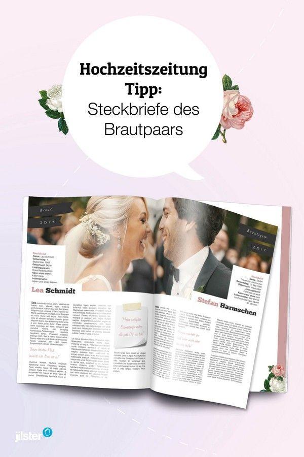 Steckbriefe Des Brautpaares Tipp Fur Die Hochzeitszeitung Jilster Blog Hochzeitszeitung Hochzeitszeitung Ideen Hochzeit