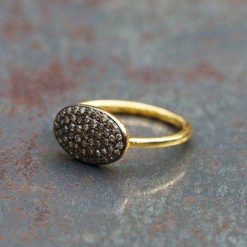 Bague Marilou vermeil et diamants par 5 Octobre, sélection Barbara de Rouville pour l'Atelier des Bijoux Créateurs.