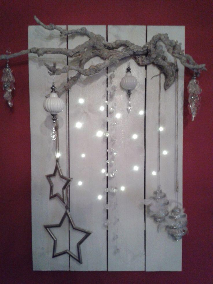 Mijn eigengemaakte wandbord#kerst#steigerhout