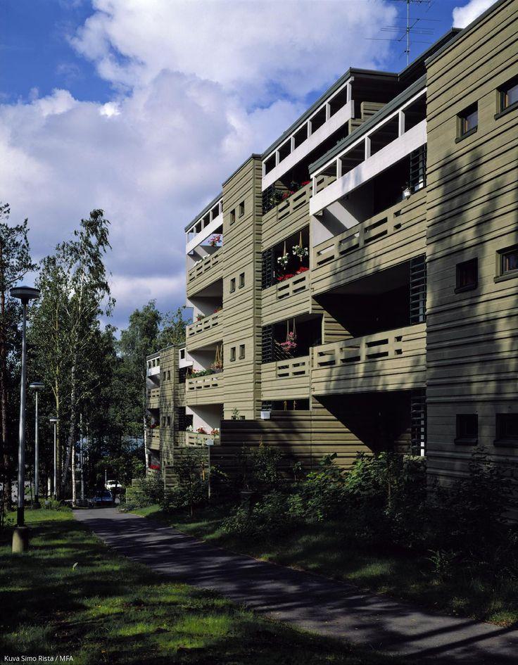 Suvikummun asuinalue, Espoo 1967-82. Arkkitehdit Raili ja Reima Pietilä.