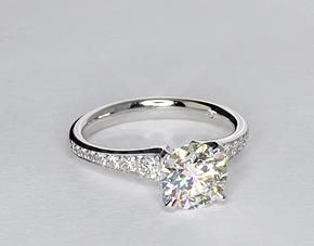 Graduated Pavé Diamond Engagement Ring.