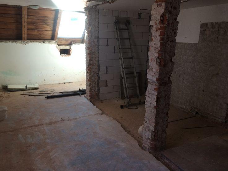 rekonstrukce prvního patra pensionu Thir. #thirwinebar http://thir.cz/