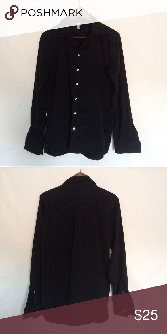 American Apparel Black Button Down unisex button down. Great thick quality. 100% cotton. American Apparel Shirts Casual Button Down Shirts