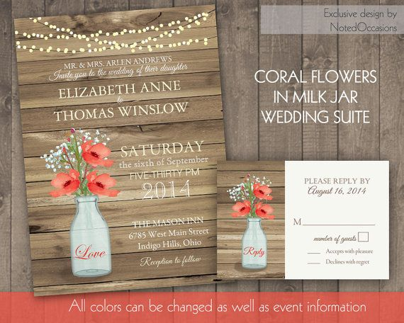 rustic wedding invitations and rsvp card designed with 2015 wedding in mind the wedding invitation