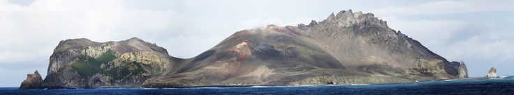 https://flic.kr/p/QVyUMj | East flank of McDonald Island, Southern Ocean | Volcanic domes, lava flows, and ash layers dominate the topography; many penguin nurseries on the island