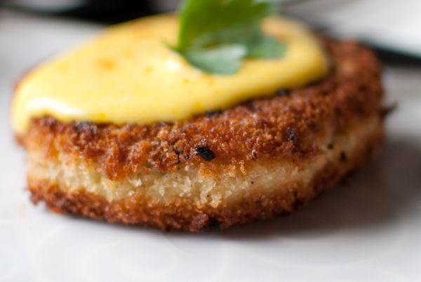 Salmon Croquettes with Hollandaise Sauce - adds cheese and potatoes to ...
