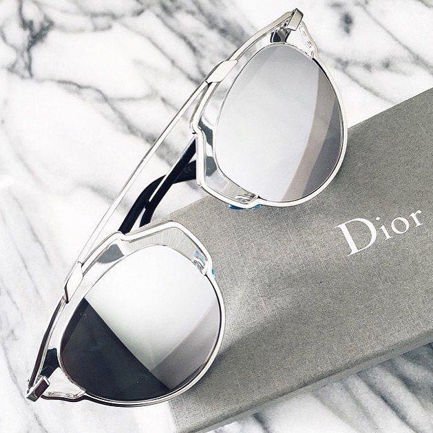 mirrored sunglasses #dior