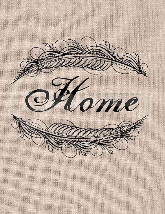 Home Calligraphy Frame Feather Graphic Image By