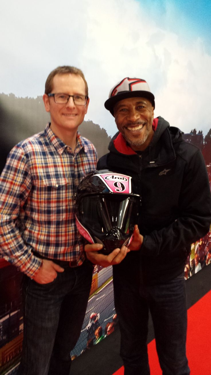 Steve Keys & Danny John-Jules take a break from climbing mountains to say hello at the MCN London Bike Show!