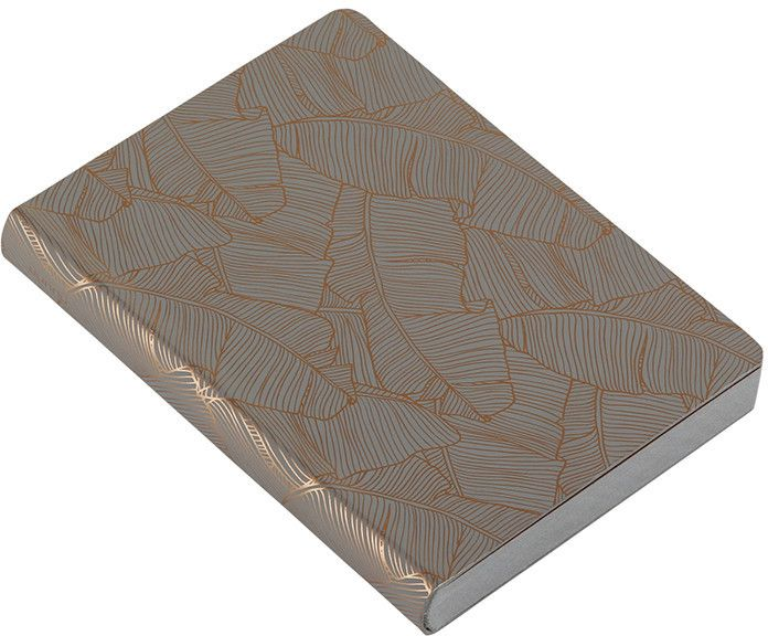 Nuuna - Banana Leaves Leather Notebook - Grey