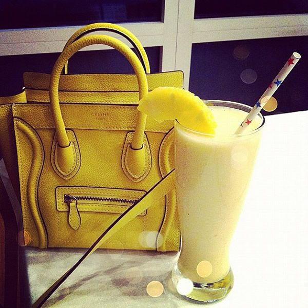 I was obsessed with buying a Celine bag while in Paris but they were out of stock.  Celine-Nano-Pina-Colada.. from purseblog..