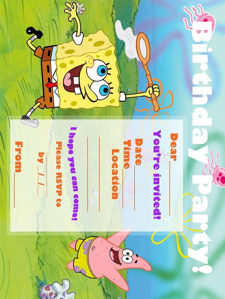 Comfortable Spongebob Party Invites Images - Invitation Card Ideas ...