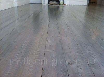 Dilute black stained and white wood washed on old baltic pine