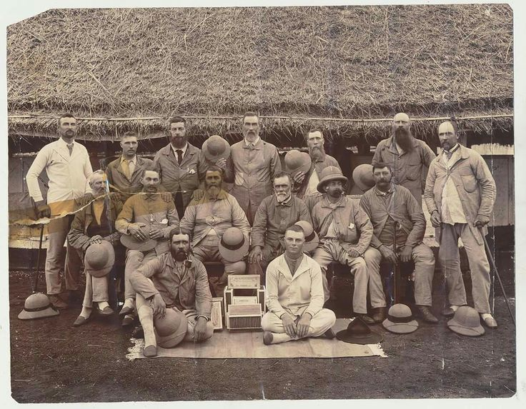 Trichinopoly ( india ) Boer POW's from the Soutern Free State With aquired cigars. Bottom right...Frans Durandt.