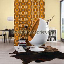 Retro oranje-bruin behang 95528-1 AS Creation