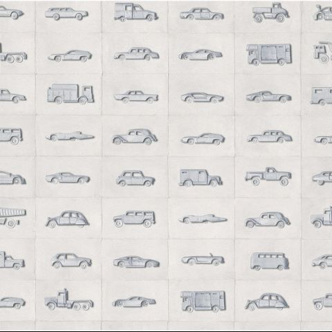 Vintage cars print wallpaper. http://www.worldstores.co.uk/p/Rasch_Kids_Club_Vintage_Cars_Grey_Wallpaper_10m_Roll.htm
